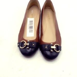 Coach Shoes Brown and Black Gold Tone Accent